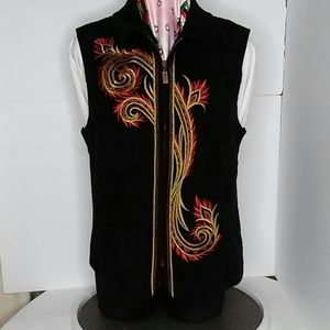 Bob Mackie beautiful embroidery vest size L